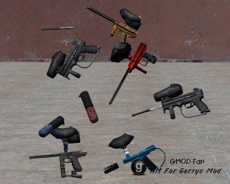 Paintball guns repacked