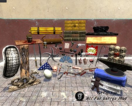 Mortal Kombat props and weapons ported