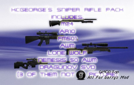 KCGEORGE's Sniper Rifle Pack