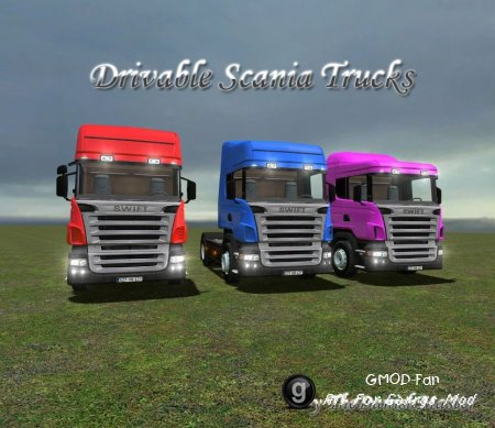 Drivable Scania Trucks Pack by TDM