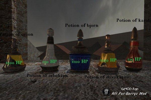 Restoration potions V1
