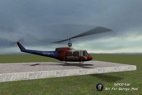 Физическая модель вертолета из Left 4 Dead