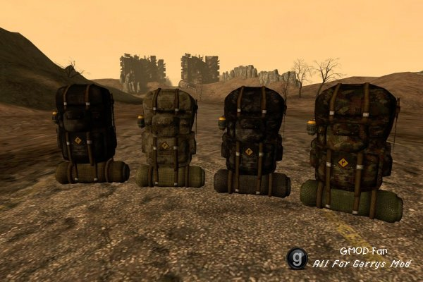FO3 custom camping styled backpack port
