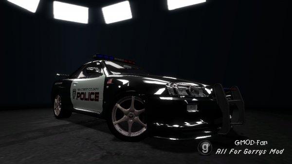 Police Nissan Skyline R34 TDM skin