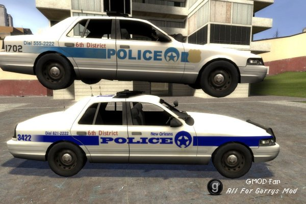 L4D2 New Orleans police car hexed