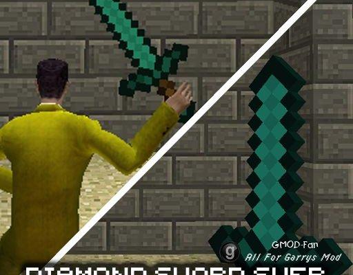 MineCraft sword SWEP