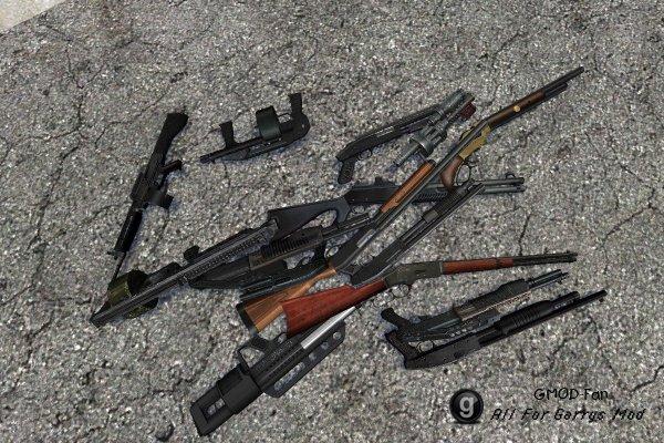 Kermite shotguns modded by sanchester