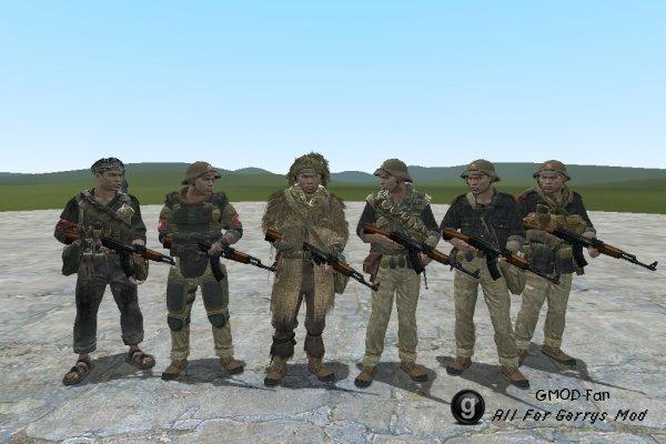 COD BO Vietcong NPCs and Playermodels