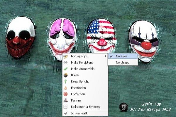 Payday 2 Clown Masks