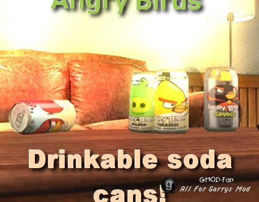AngryBirds soda cans