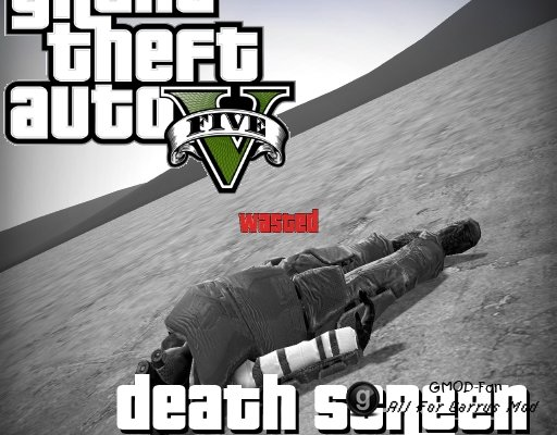 Grand Theft Auto V Death Screen (Wasted)