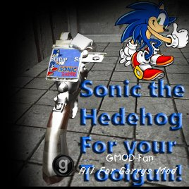Sonic the hegehog for your toolgun! (skin)
