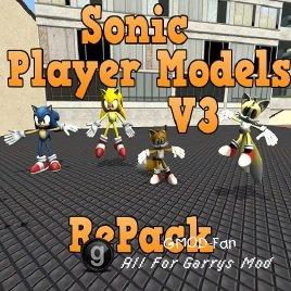 Sonic Player Models V3 and V2 RePack Обновление.