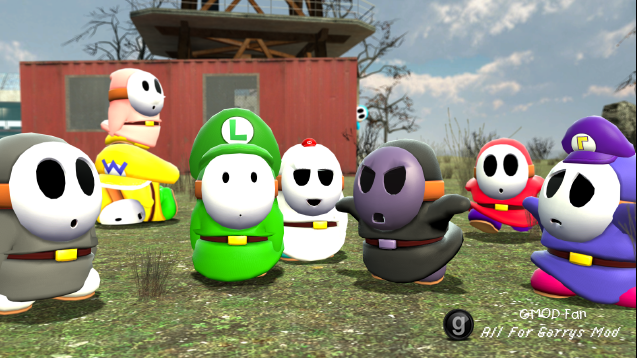 Super Mario ragdolls pack