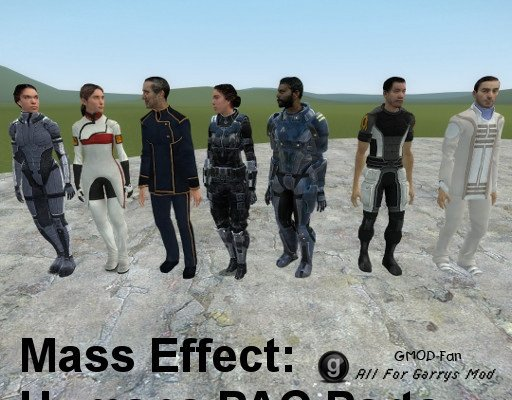 Mass Effect: Human PAC Parts