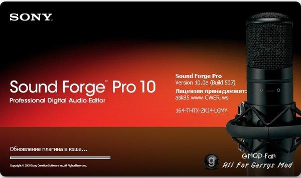 Sony Sound Forge Pro 10.0 repaсk