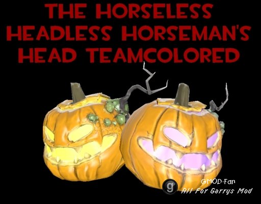 Team Colored Horseless Headless Horsemann's Head Hex