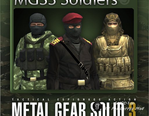 Metal Gear Solid 3: Soldier Playermodels and NPCs