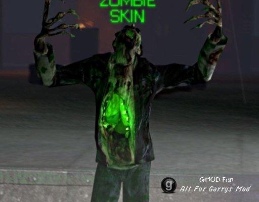 Radioactive zombie skin pack