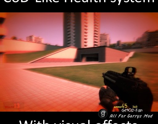 CoD-Like Health system with visual effects