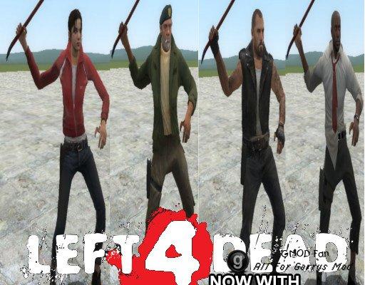 Left 4 Dead and Left 4 Dead 2 Playermodels