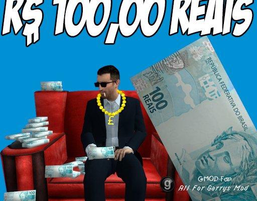100 Reais - Maço De Notas Br
