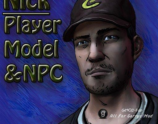 The Walking Dead- Nick Player Model & NPC