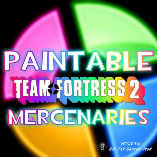 Paintable Team Fortress 2 Mercenaries