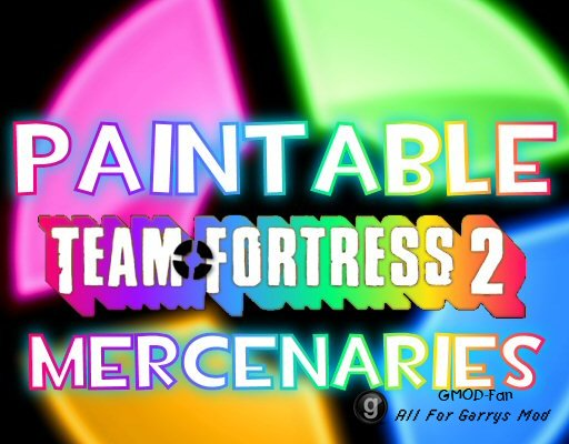 Paintable Team Fortress 2 Mercenaries