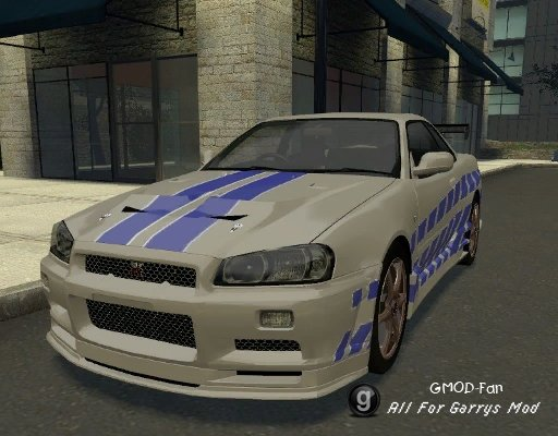 Nissan Skyline R34 GT-R Fast and Furious Skin