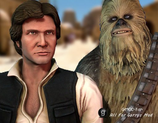 STAR WARS Han Solo and Chewbacca Playermodels