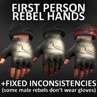 Rebel View Model Hands