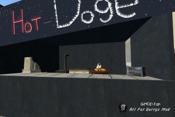 Mini Hot - Dog shop The Adv. Duplication.