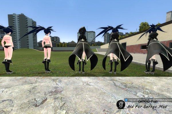 Black Rock Shooter (Digitrevx) Basic Playermodel and NPC