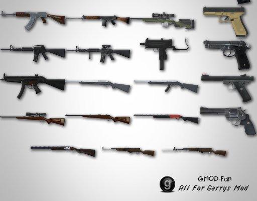 [TFA] No More Room in Hell Firearm SWEPs