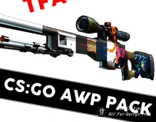 [TFA] CS:GO AWP Skin Pack