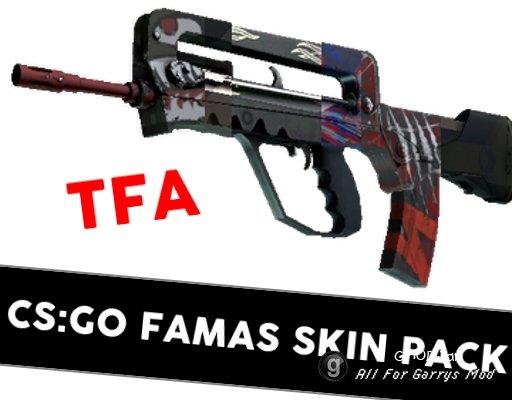 [TFA] CS:GO FAMAS Skin Pack