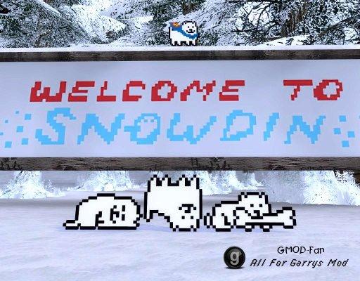 Undertale Snowdin Town Map