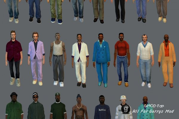 GTA NPC's and Player Models