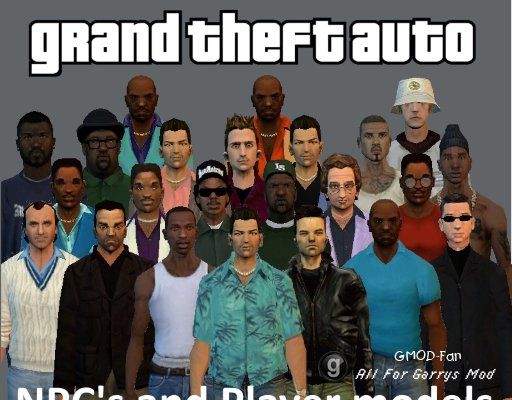 GTA NPC's and Player Models