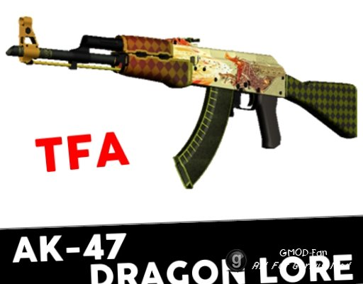 [TFA] CS:GO AK-47 Dragon Lore