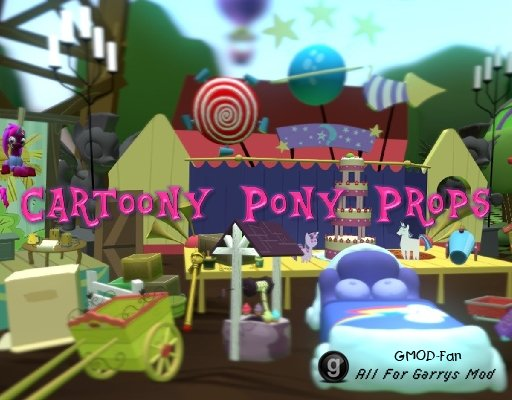 Cartoony Pony Props