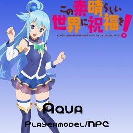 Konosuba Aqua Playermodel/NPC