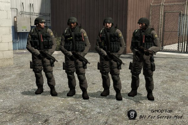 Counter Strike: Global Offensive CT Playermodels and NPCs
