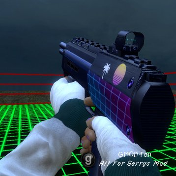 Synthwave-themed SMG reskin