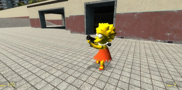 The Simpsons - Bart and Lisa Player Models + NPC's