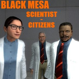 Black Mesa Scientist-Citizens (Playermodels and NPCs)