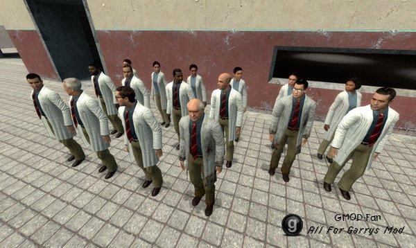 Black Mesa Scientist-Citizens (Playermodels and NPCs)
