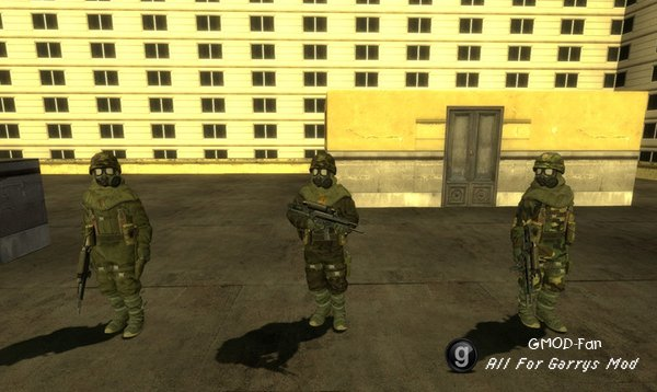 Hazmat Conscripts Playermodel+NPCs