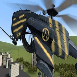 Half Life 2 Lambda Chopper ( Rebel Hunter Chopper ) NPC